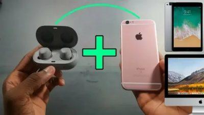 Как подключить беспроводные наушники к айфону 6s?